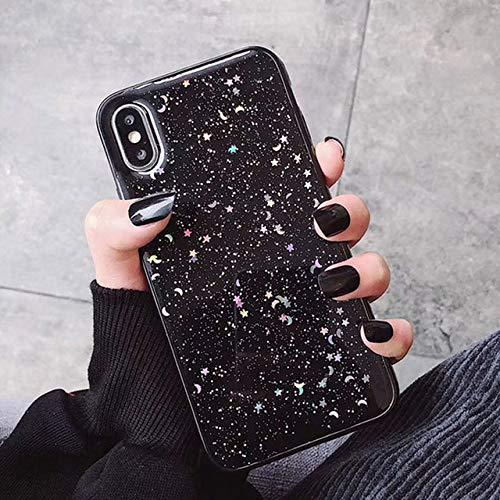 LIUYAWEI Estuche para teléfono con Purpurina a la Moda para iPhone 12 11 Pro MAX 7 8 Plus X XR XS MAX SE 2020 Wave Soft TPU Cover, AC4098B, para iPhone SE 2020
