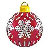 CaCaCook Decoración navideña Exterior Pelota Inflable,Bolas de Navidad inflables Gigantes 60cm para el hogar, Bodas, Navidad, Fiestas, Navidad, Navidad, Bolas de Navidad, Fiestas y Adornos de Fiesta