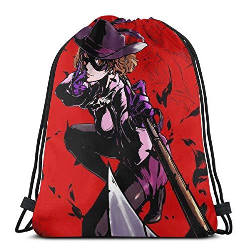 QiangQ Bolso con cordón Drawstring Bags Sport Gym Sack Party Favor Bags Wrapping Gift Bag Drawstring Backpack Storage Goodie Bags Cinch Bags - Persona 5 Haru Okumura