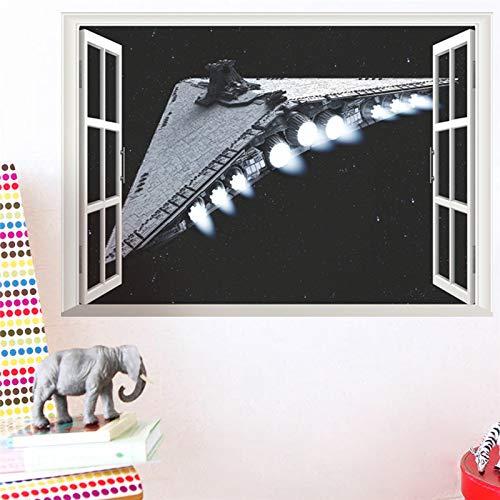 Star War Science Fiction Film République Navire D'assaut 3D Fenêtre Vaisseau Spatial Vaisseaux Spatiaux Stickers Muraux Décor À La Maison Affiche
