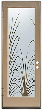 Glass Front Entry Door Sans Soucie Art Glass Wispy Reeds