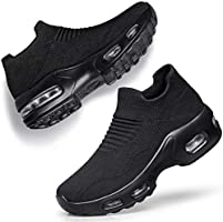 DOUSSPRT Womens Walking Shoes Slip on Sock Sneakers Lady Girls Nurse Mesh Air Cushion Platform Loafers Fashion Casual
