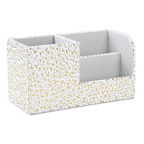 Caja de Almacenamiento de Escritorio Estructura de madera Escritorio de cuero ORGANIZADOR ORGANIZADOR PENDIENDO PERSÍO DE PAPELÍDOS Caja de almacenamiento de lápiz para la escuela de oficina en casa O