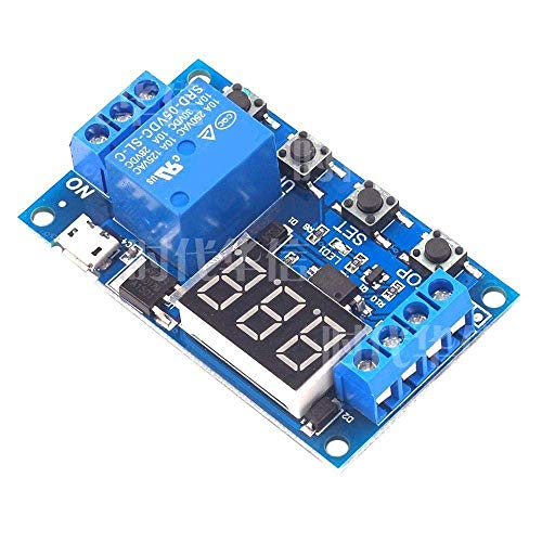 YHtech 1 Relay Module Delay Power OFF Trigger Delay Cycle Timing Circuit Switching Relay Spot Steuermodul (Size : 5v) Industrial tools