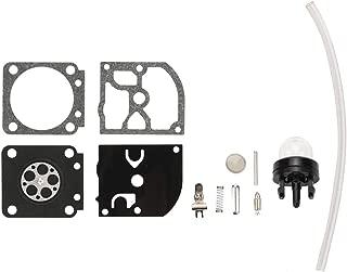 Kuupo RB-129 Carburetor Rebuild Repair Kit for ZAMA C1M-W26 C1M-W26A C1M-W26B C1M-W26C C1M-W47 Poulan Pro PP3516 PP3516AVX PP3816 PP3816AV PP4018 PP4218 PP4218AV Gas Saw with Primer Bulb Fuel Line