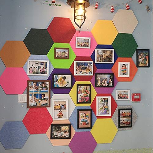 Voelde Zeshoek Pin Board - 1 Stks/Zeshoek Board Tegels met Volledige Sticky Back Creëer uw eigen muur Bulletin Board overal in uw huis om een Handige plek om notities foto's Doelen Foto's Tekenen Groen