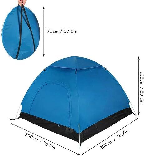 Dswjx Tente en Plein air portable plage Tent 2-3 Personne Facile Pop Up étanche Sun Shelter Tente for Camping Randonnée Pliante Sac à Dos Tente