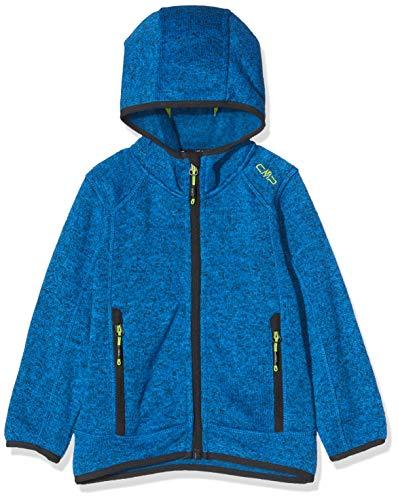 CMP Jungen Strick Fleece Jacke 3H60844, Blau (Ocean M962), 176