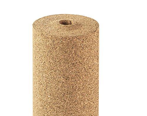 Rollenkork 2 mm Stärke, 10qm, 10 x 1m, Dämmunterlage Rollkork Trittschalldämmung/für schwimmend verlegte Parkett und Laminatböden/Wärmedämmende Wanduntertapete