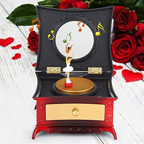01 Joyero Musical, Caja de música Decorativa, Joyero Musical para Regalo de Juguete(Rosa)