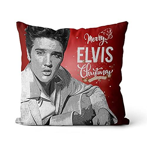 Funda de cojín Elvis Presley Fundas de Almohada de impresión Impresión de teñido Sofá Cama Decoración para el hogar Funda de Almohada Funda de cojín 18x18 Pulgadas / 45x45cm