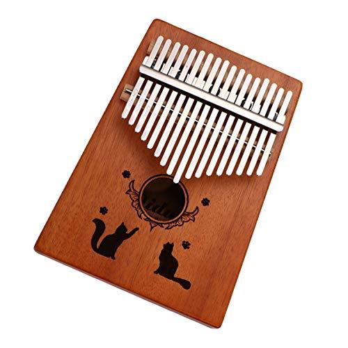 EXCEART 1 Satz Kalimba 17 Tasten Daumen Klavier Mbira Kalimbas Tragbare Daumen Klavier Kinder Anfänger Professionelles Instrument
