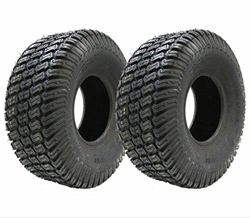Rasenmäher-Reifen, 15x 6.00–64pr (369x 160mm), für Aufsitzrasenmäher, 2er-Set