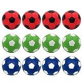 BQSPT Ersatzbälle für Fußball, Mini-Fußball, 36 mm, offizielles Produkt, 12 Stück