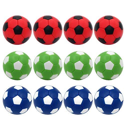 Foosball Balls Replacement Balls,Foose Balls Balls,BQSPT Mini Foosball Ball 36mm,Foosball Balls Official,Multicolor Foosball Accessories 12pack