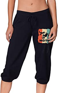 Women's Casual Retro Motocross Vintage Style Cropped Trousers