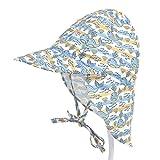 PAADIYA Boomly Estate Motivo Stampato Asciugatura Rapida Traspirante Berretto per Bambino Cappello Bambino con Visiera Cappello da Sole da Spiaggia Cappello da Pescatore