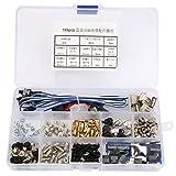 189PCS Kit de surtido de tornillos de separación de computadora, tornillos de disco duro de placa base DIY, accesorios de reparación de computadora, con estuche