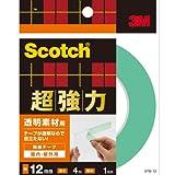 スコッチ(R) 超強力両面テープ 透明素材用 12 4STD-12
