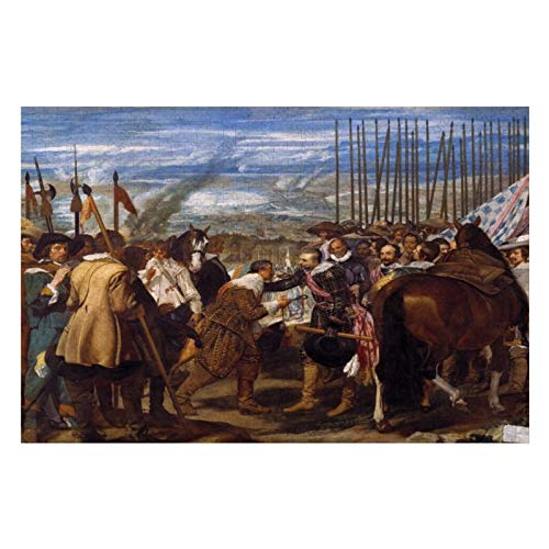 The Surrender of Breda Or The Lances by Velazquez Puzzles for Adults, 1000 Piece Kids Jigsaw Puzzles Game Toys Gift for Children Boys and Girls, 20' x 30'