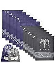 12 Piezas Bolsas de Zapatos Impermeable Bolsa a Prueba de Polvo Zapatos Bolsa para Zapatos de Viaje Bolsa de Acabado con Ventana Transparente y Dibujar Cadena de Lazo para Tacón Alto Zapatos Sandalias