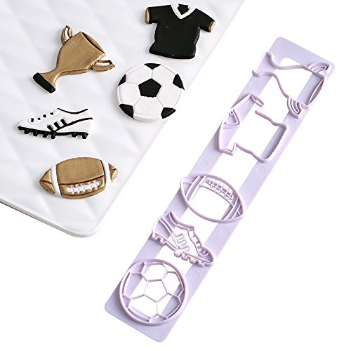 Soccer Football Series Cookie Biscuit Cutters Fondant Cake Cookie Cutters-Food Grade ABS Plastic