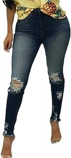 Womens Fashion Classic High Waisted Ripped Jeans Boyfriend Skinny Distressed Slim Fit Stretch Leg Denim Pant