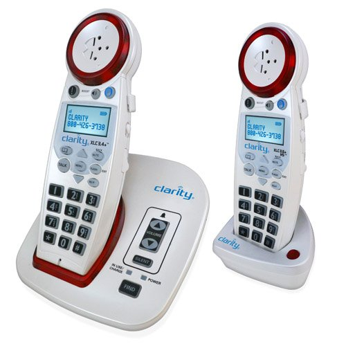 Clarity XLC3.4+ Hearing Loss Cordless Phone with XLC7HS Expandable Handset