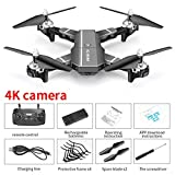 Rubyu Drone et caméra vidéo en Direct, Quadricoptère WiFi FPV, Quadricoptère Pliable RC Drone, Drone HJ100 720P 1080P 4k Drone HD WiFi FPV Flying Drone