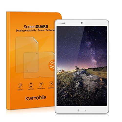 kwmobile Glas Displayschutzfolie kompatibel mit Huawei MediaPad M3 8.4 - Tablet Schutzglas Folie Schutzfolie Displayschutz Glasfolie in kristallklar
