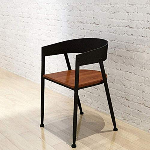 YO-TOKU Bar Stool Tolix Style Dining Stools With Wood Seat And Backrest For Pub Bistro Kitchen Black Personality Bar Chair (Color : Black, Size : Free size) Chairs Living Room Furniture
