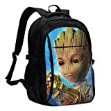Groot Backpack-Business Mochila antirrobo de viaje con cable de carga USB/interfaz de auriculares de...