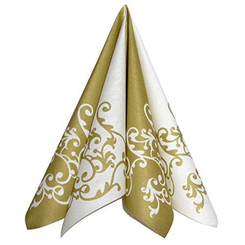 Servietten Pomp Gold-Weiß Tischdeko Hochzeitsdeko Servietten falten 50Stk 40x40cm