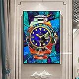 wojinbao Arte Moderno de Pared de lonaNordic Colorful Watch Canvas ng Cuadros Scandinavian Posters and Prints HD Impreso Wall Art Pictures para la decoración de la Sala de Estar