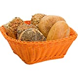 Saleen Mehrzweck-Korb, Gastrotauglich, Quadratisch, 23 x 23 x 9 cm, Kunststofffaser, Orange, 02096501101