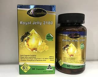 Auswelllife Royal Jelly 2180 6% 10 HDA 60 Capsules Anti Aging Younger Skin