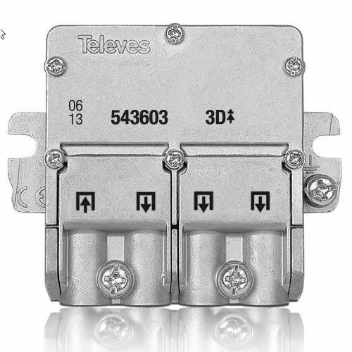 Repartidor Distribuidor 3 Salidas 8.5/7.5 dB, Cablepelado