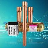 Emoshayoga Accesorio de Mantenimiento Válvula de Cuatro vías de Cobre para Sistemas Tipo Bomba de Calor(1P)