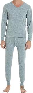 Otoño e Invierno Cálido Cerrar Pijamas Pantalones y Mangas Largas de Dos Piezas Juveniles Hogar Pijamas Color Sólido
