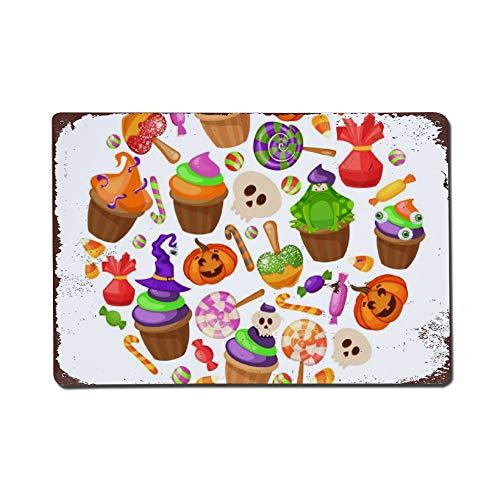 Trick Of Behandel Traditionele Snoepjes En Snoepjes Halloween Metalen Tekenen Vintage Look Home Decor Wall Art Tin Teken Metalen Poster 8