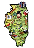 Illinois Artwood State Magnet, Classic Magnets Collectible Souvenirs