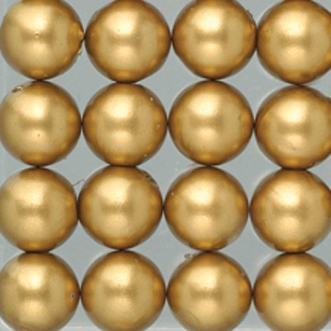 Efco Wax Beads ? 4 mm 125 pcs. Gold matt, 5x5x2 cm