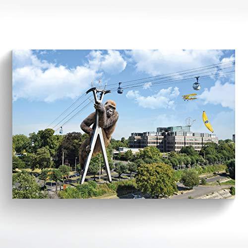 stadtecken® Poster KÖLN I Motief: King-Kong I Kunstdruk I Decooposter I muurschildering I Souvenir I Gift I Cadeau-idee - met varianten 30x20 cm