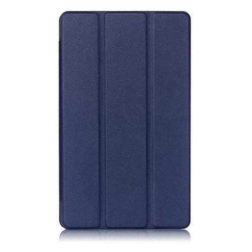 Kepuch Custer Huawei M3 8.4 Hülle - Shell Schutzhülle PU Tasche Smart Case Cover für Huawei M3 8.4 - Blau - 2