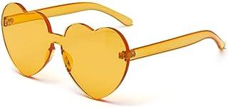 f543b9df6a FUBULECY Gafas de Sol coloreadas del corazón del melocotón, Espejo de una  Sola Pieza Popular