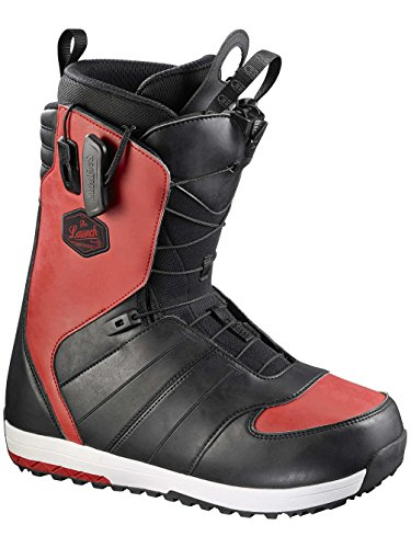 Bota de Snowboard para Hombre salomon Launch Synthetic – Botas para Snowboard, Color Black/Quick/Black, tamaño 30,5
