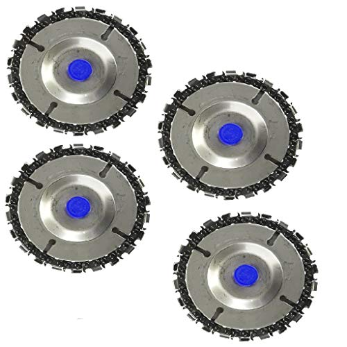 Lowest Price! Fityle 4Pcs Wood Carving Disc For 4'' Cutter 4-1/2 Angle Grinder 5/8 Arbor Disc