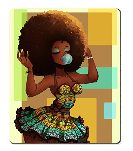 Smooffly Gaming Mouse Pad Custom,African Woman Personalized Design Non-Slip Rubber Mousepad
