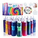 Joyjoz Tie Dye Kit for Kids and Adults, 18 Colors Fabric Dye Set with 36 Bags Pigments, Rubber Bands, Gloves, Apron, Table Covers, DIY Arts and Crafts Kit for Clothing, Shirt, Shoes, Party Supplies