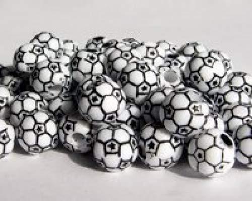 Soccer Ball Beads 60pc